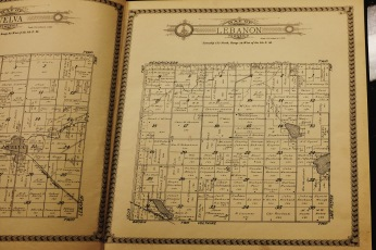 1929 map showing the different land plots and the name of their owners in Lebanon Township.