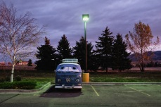 A VW camper van that was my sleeping neighbor at the Bozeman Walmart.
